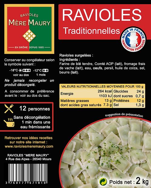 Ravioles Mère Maury surgelées Traditionnelle - 2kg