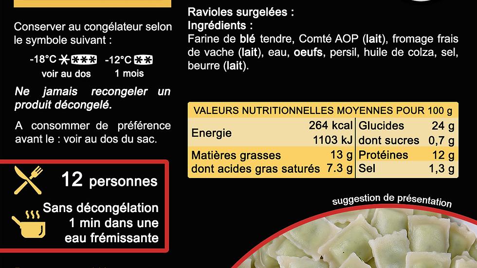 Ravioles Traditionnelles - surgelées - 2kg
