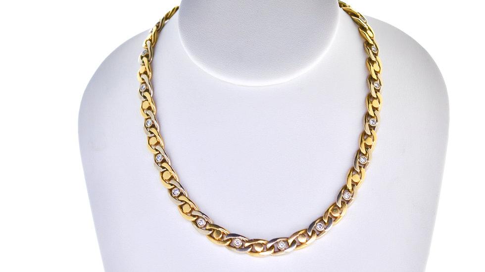 2.10 Ct Diamond necklace 128.2 gram