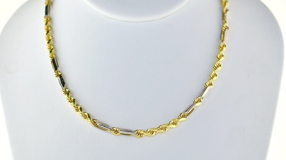 14K Solid  Milano Rope Chain 35g