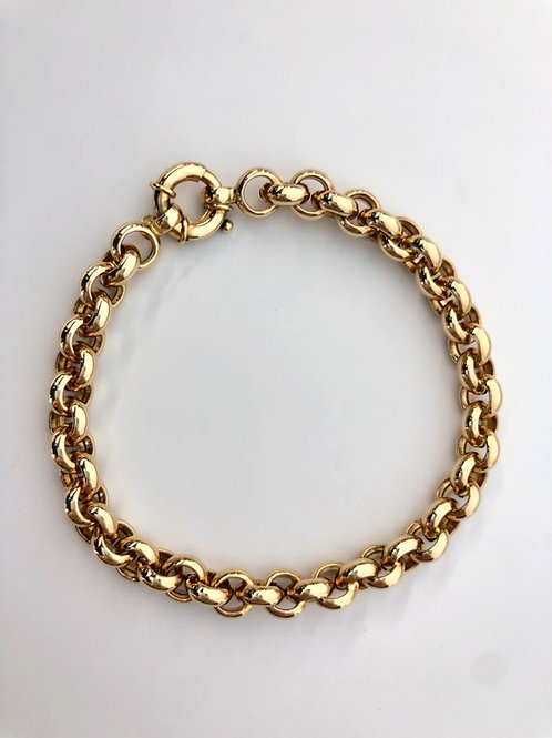 """14K Solid Rolo 7.8g """"7"""""""