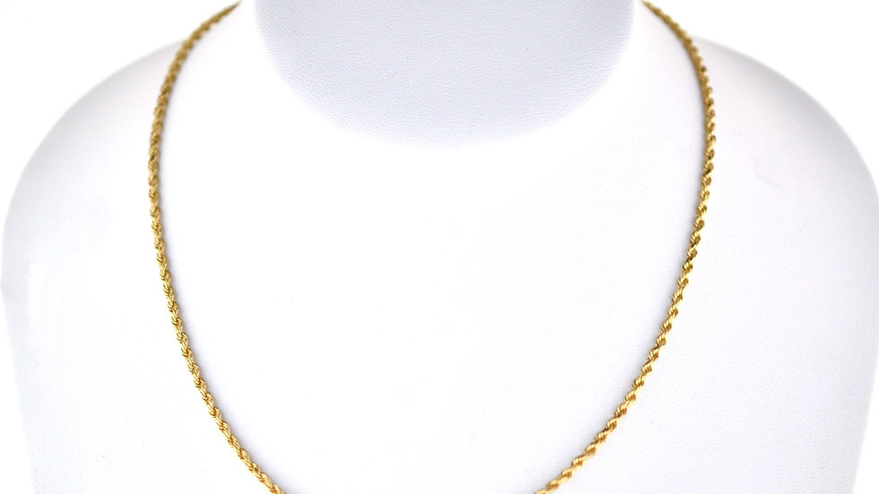 14K Solid Rope Chain 9.2g 24 Inches