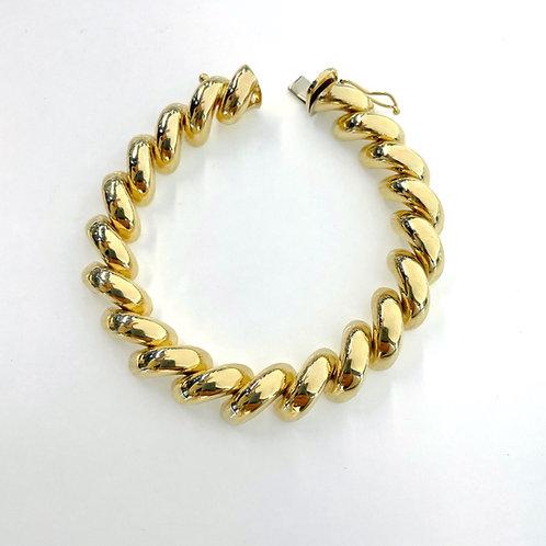 """Italian 14kt San Marco Bracelet  7"""""""