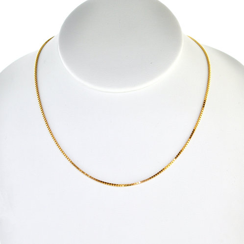 """14K Solid Box Chain 4.2g Link """"16"""