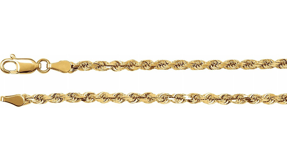 "14K Solid Rope 39.61g 4mm ""22"