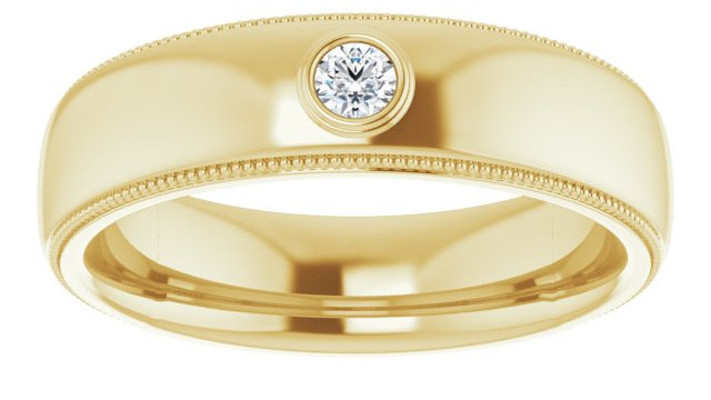 14K Yellow 1/10 CTW  Diamond Ring