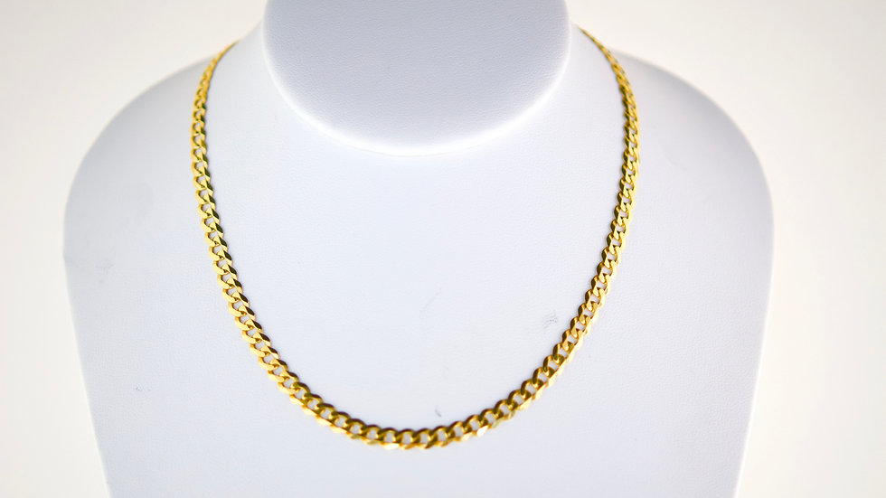 """14K Solid Curb chain 13.2g Link 20"""""""