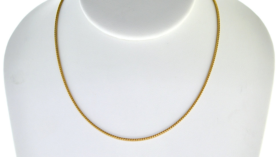 """14K Solid Box Chain 6g Link """"20"""