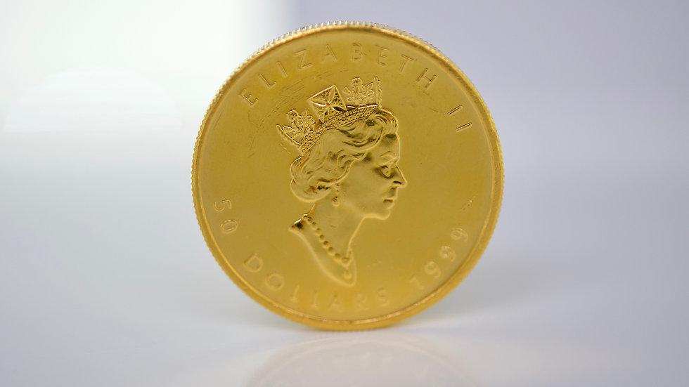 1 ounce 1999 Canada  24K Gold Maple Leaf