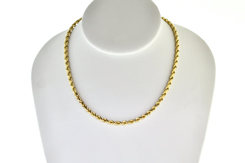 """14K Solid Rope Chain 29.2g Link """"22"""