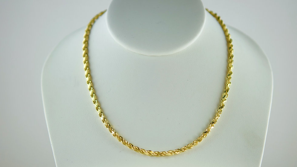 14K Solid Rope Chain 29.5g