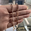 Thumbnail: 14K rose gold paper clip chain 5.10g