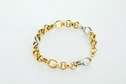 14K solid Two tone Rolo 9.8g