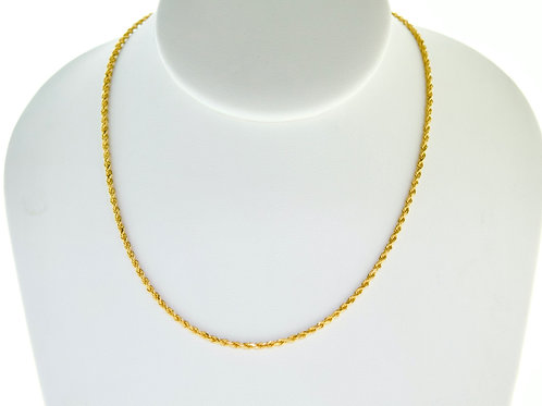 "14K Solid Rope chain 9.1g Link ""24"