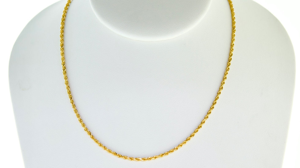"""14K Solid Rope chain 9.1g Link """"24"""