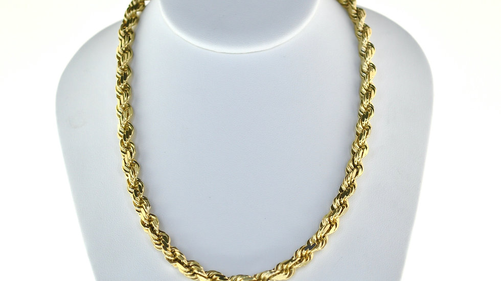 10K Solid Rope Chain 90g.