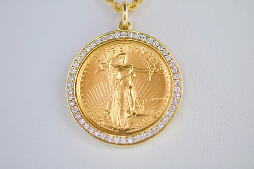24K Coin with Diamond