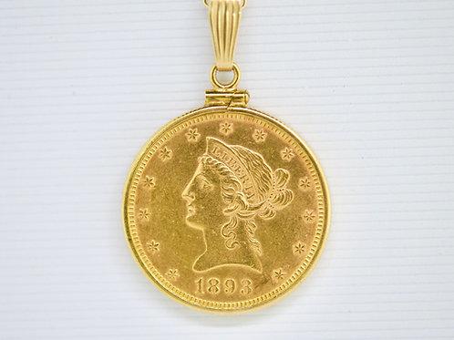 0.5 ounce 24K  Liberty1893 Coin