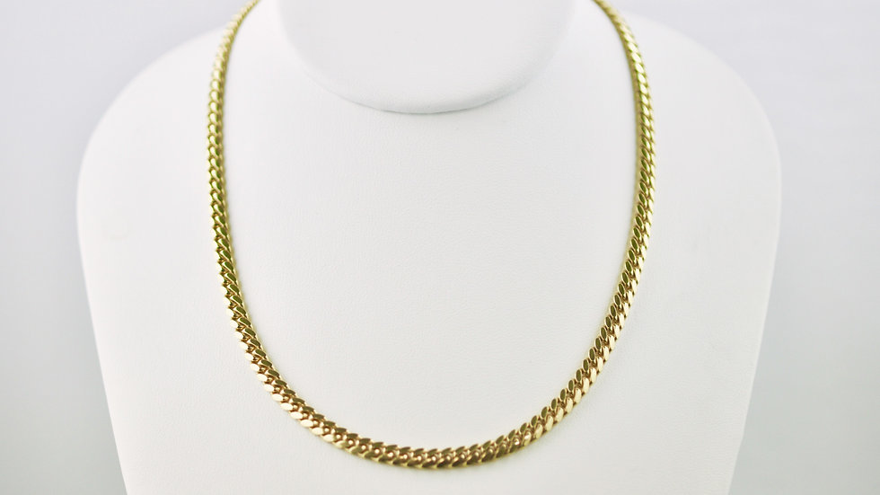 """14K Solid Miami Cuban Chain 51.9g  Link """"26"""