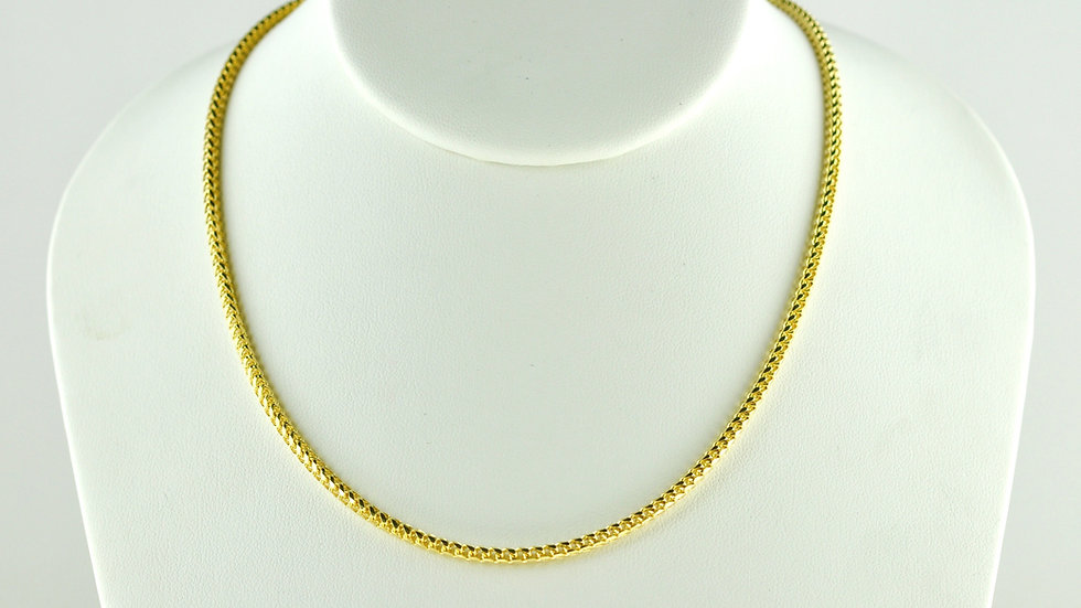"""14K Solid Franco Chain 14.1g """"24"""