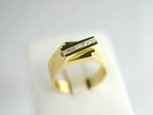 14K Chanel diamond ring