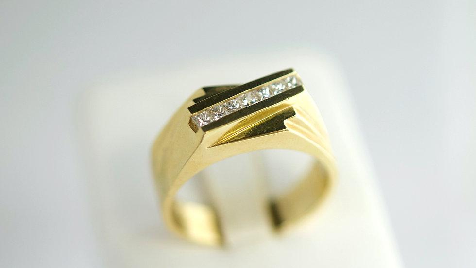 14K Chanel diamond ring
