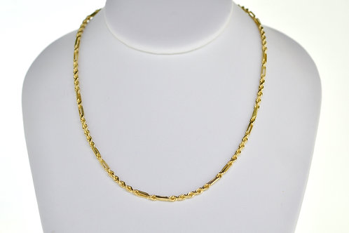 """14K Solid Milano rope 19g """"25"""