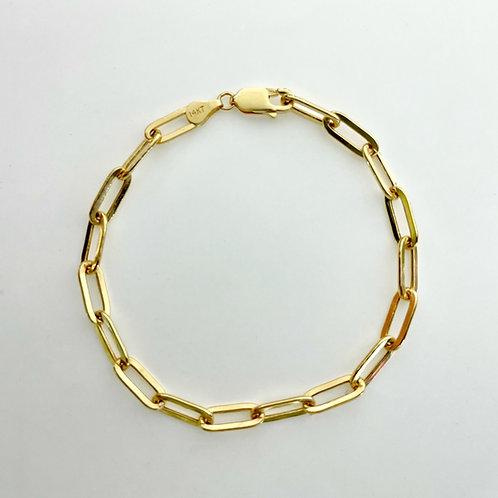 14K Paper clip bracelet 3.02 g