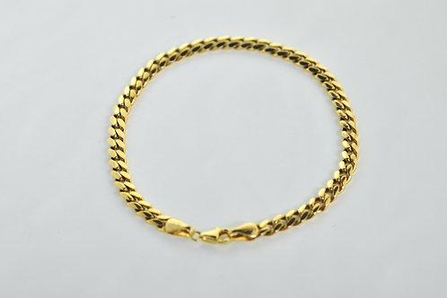 "14K Solid  Miami Cuban Bracelet 15.2g  ""9"