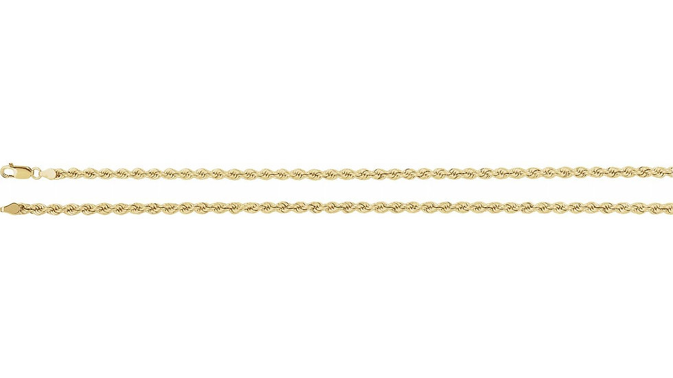 """14K Solid Rope 61.13g 5.3mm """"24"""