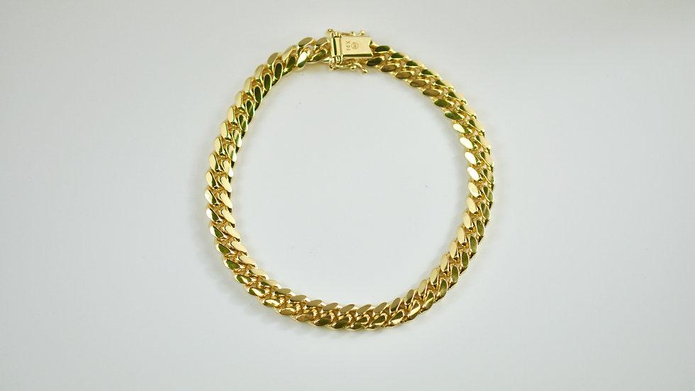 "14K Solid Miami Cuban Bracelet 15.7g. ""8"