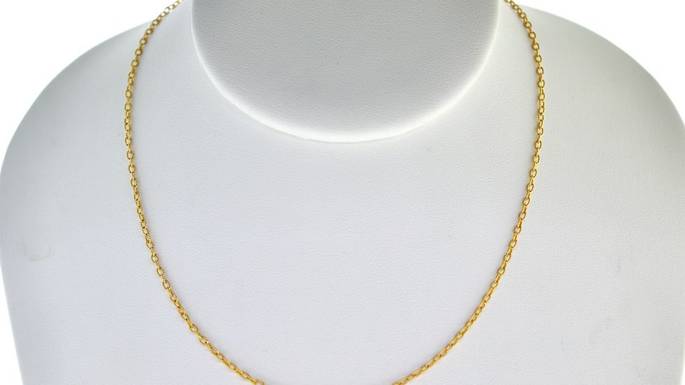 """14K Solid  Rope 3.4g  chain Link  """"20"""