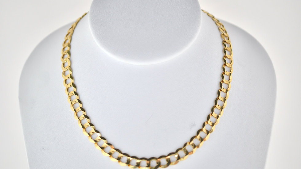 """14K Solid Curb Chain 40.3g  Link 25"""""""