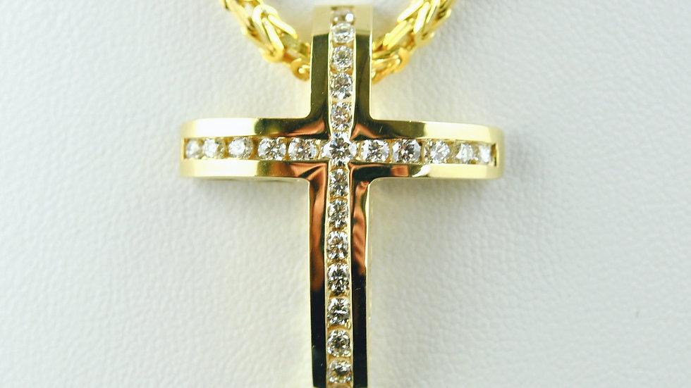 1.1 Ct Diamond Cross 9.4g