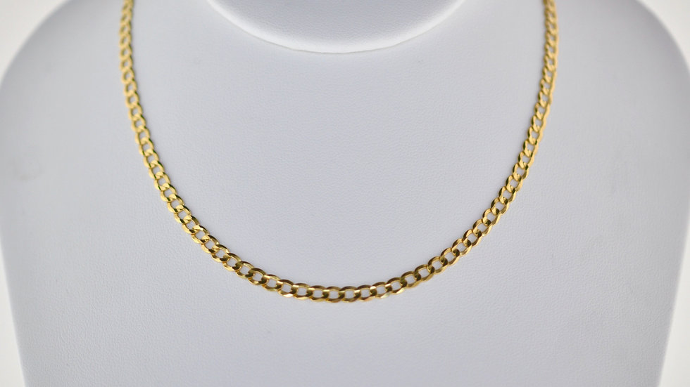14K Solid Curb Chain 8.4g