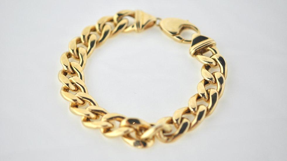 Semi solid 14K gold bracelet 48.1g