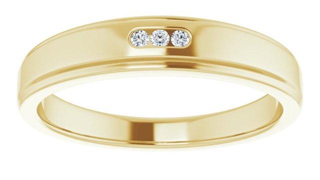 14K Yellow .04 CTW Diamond Ring