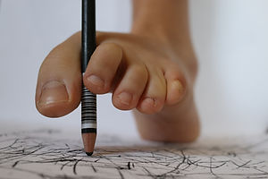 Liliana Robins, foot drawing