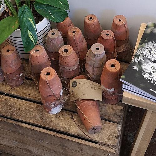 Victorian terra cotta pots. Set of 4