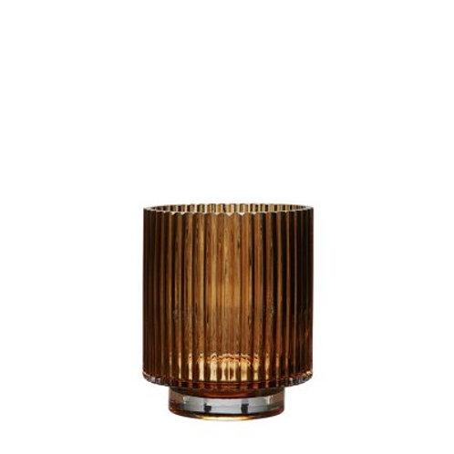 Riffle glass vase