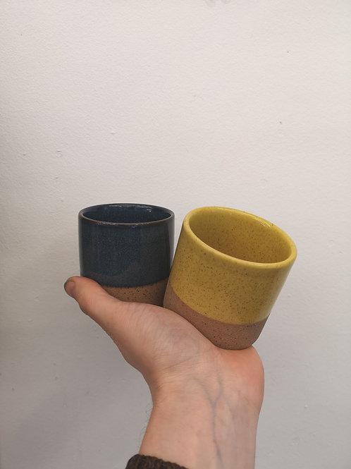 Two-tone ceramic plant pot small