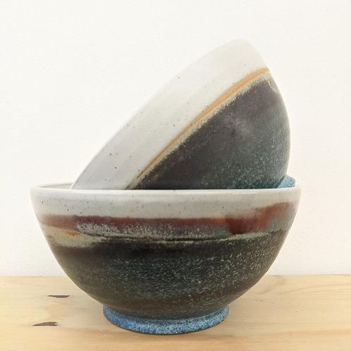Large bowl green glaze - Penrhiw pottery