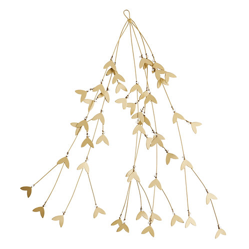 Antique Brass Finish Mistletoe