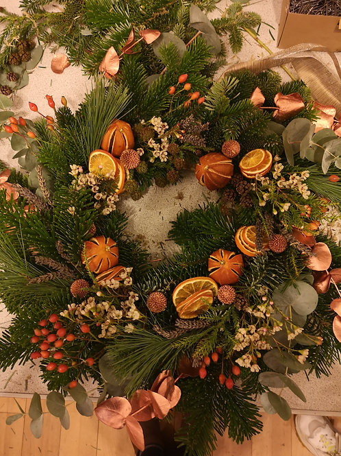 Christmas wreath workshop kit with online tutorial
