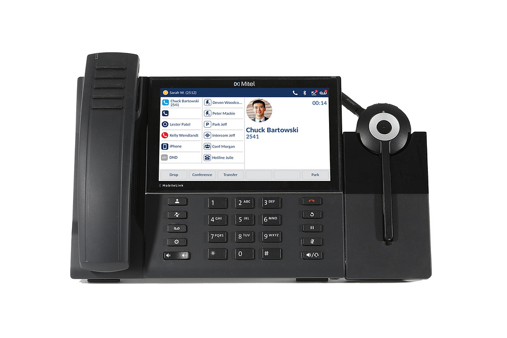 Mitel 6940 Desktop IP Phone with Integrated Headset on MiVoice Connect