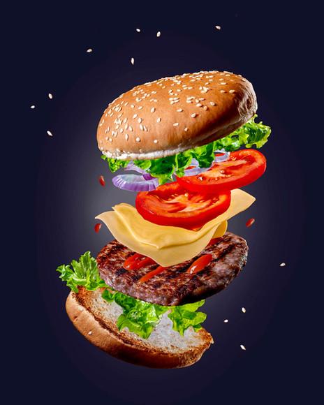 Hamburger Food Fotografo ADV Milano
