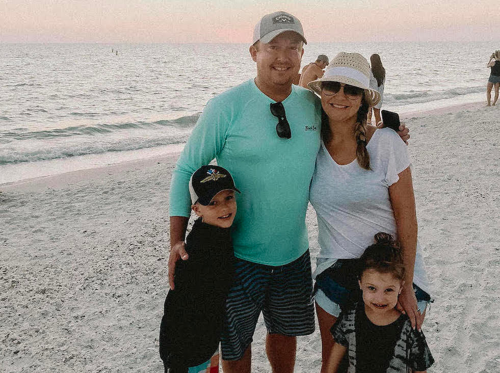 Lucid Founders John Galligan and Bethany Robinson with their children