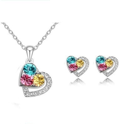 Colours of Love Necklace & Earring Set