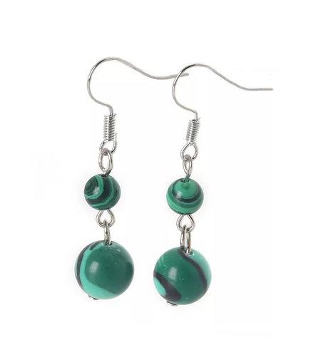 Forest Green Beads Earrings