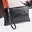 Thumbnail: Ladies Crocodile Cosmetic Bag (Black)